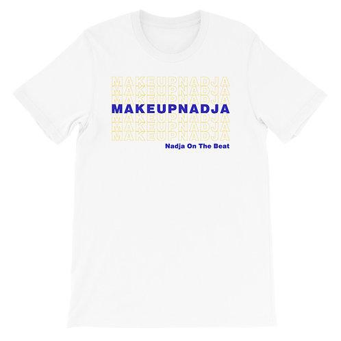Short-Sleeve Unisex Blue and Gold T-Shirt