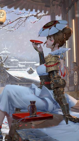 Geisha snow
