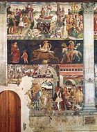 Франческо дель Косса. Апрель. Роспись зала Месяцев. 1470-1471. Феррара. Палаццо Скифанойя