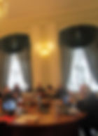 """А. Майкапар читает лекцию из цикла """"Энциклопедия. История идей в европейском искусстве""""."""