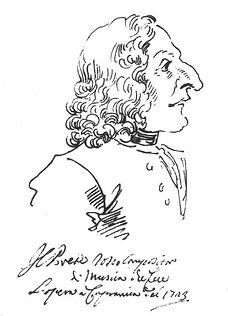 Поль Гецци. Карикатурный портрет Вивальди. 1723