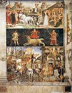 Франческо дель Косса. Март. Роспись зала Месяцев. 1470-1471. Феррара. Палаццо Скифанойя