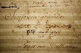 """Титульный лист """"Героической симфонии"""" Бетховена. Рукопись."""