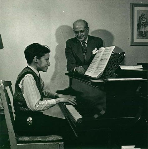 Глен Гульд на уроке с учителем
