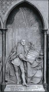 Луи Франсуа Рубийак. Надгробие Генделя в Вестминстерском аббатстве в Лондоне