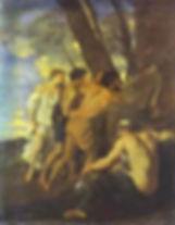 Пуссен. Аркадские пастухи. (1629 - 1630). Четсворт. Собрание герцога Девонширского.