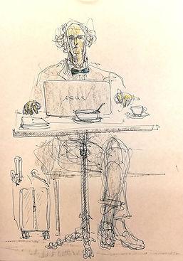 Василий Ануфриев. Портрет Александра Майкапара. За работой.