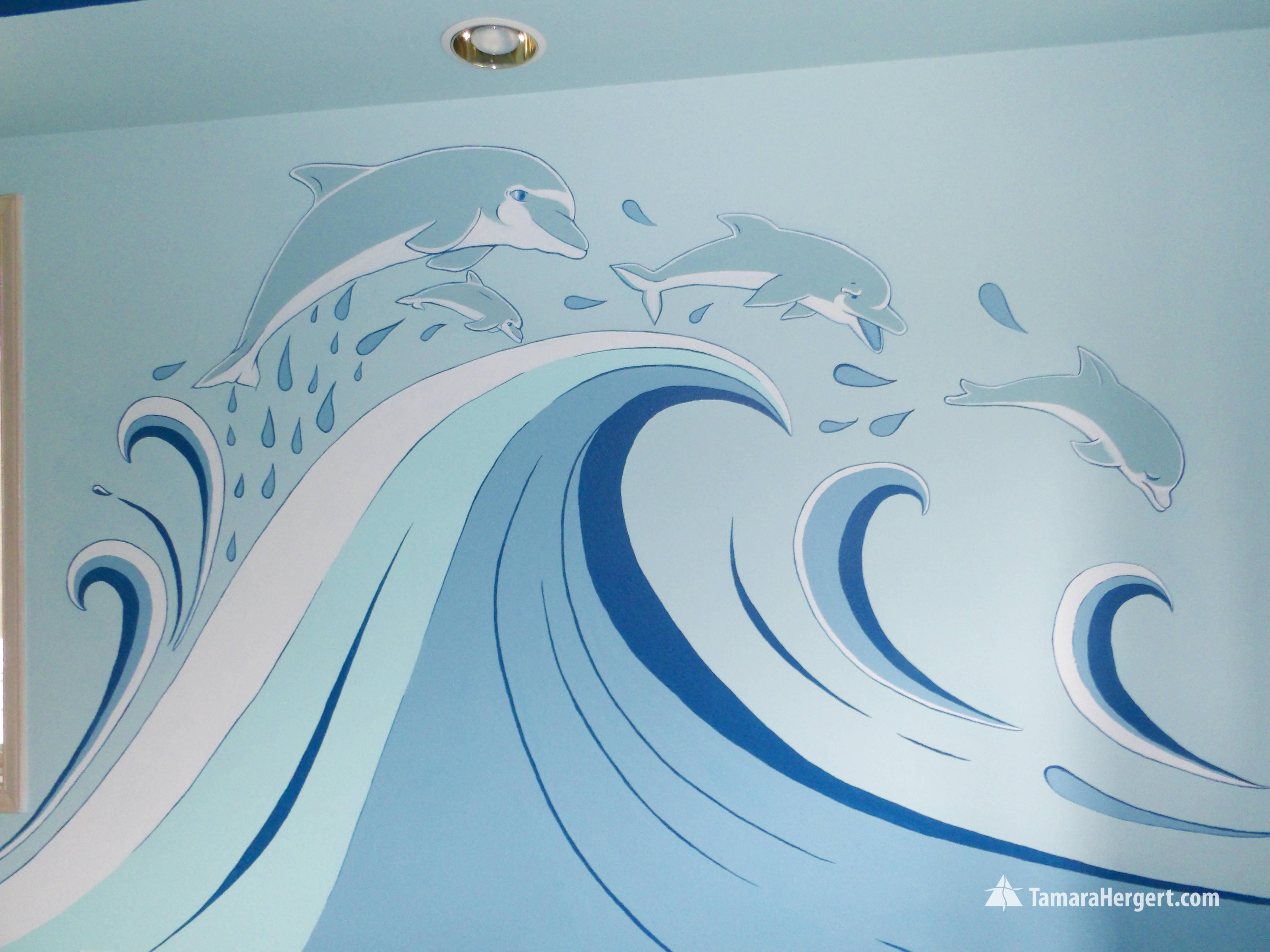 Sealife mural by Tamara Hergert 6