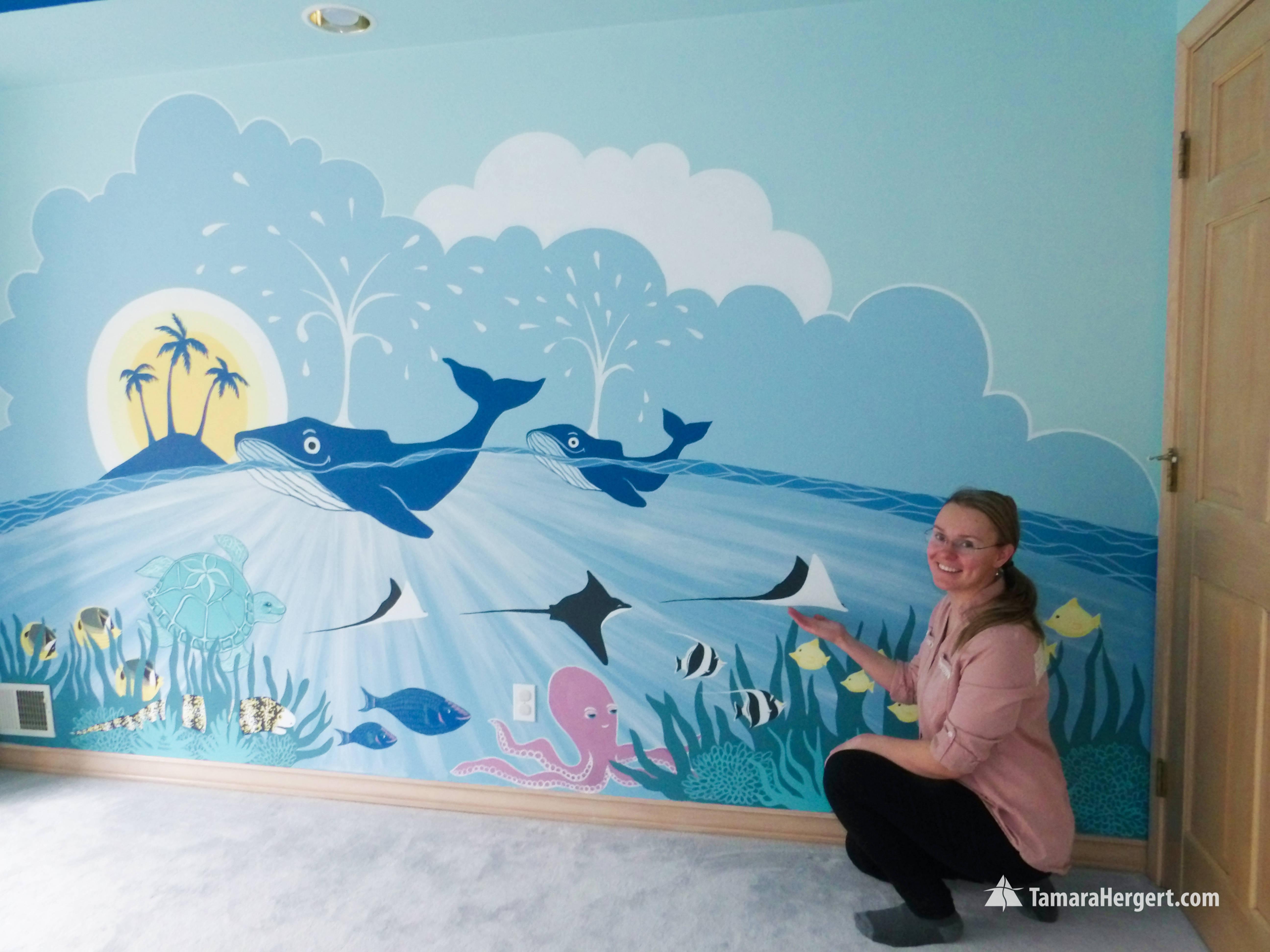 Sealife mural by Tamara Hergert 8