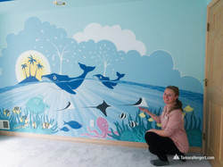 Sealife mural by Tamara Hergert 8