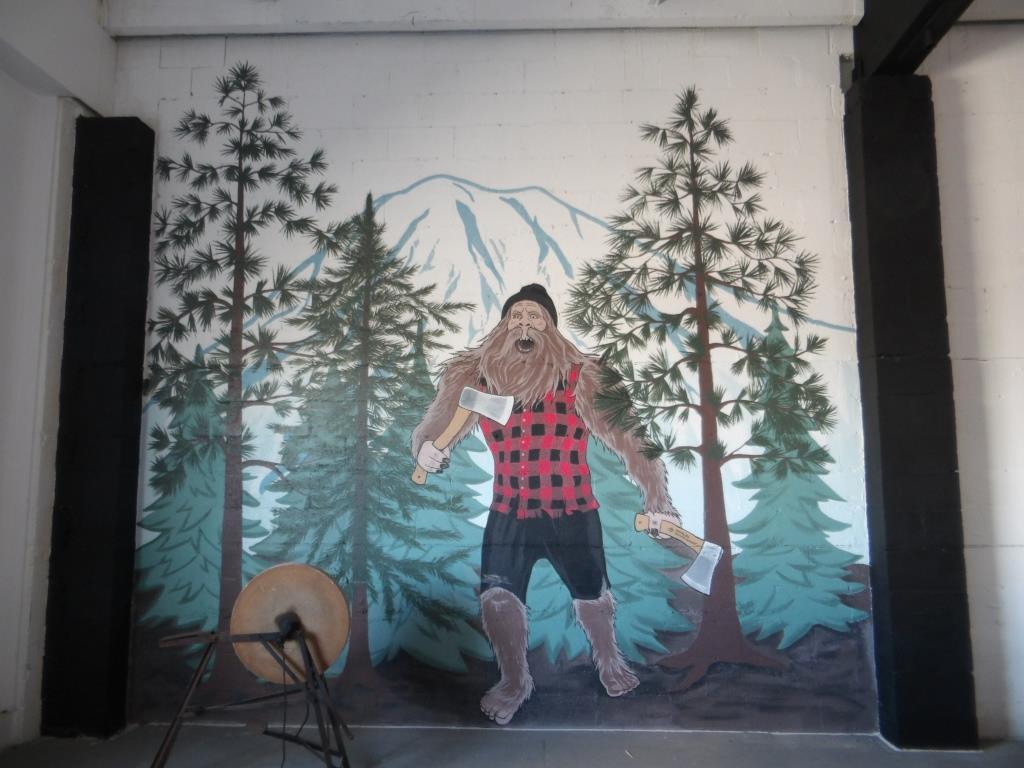 Axekickers mural by Tamara Hergert 1