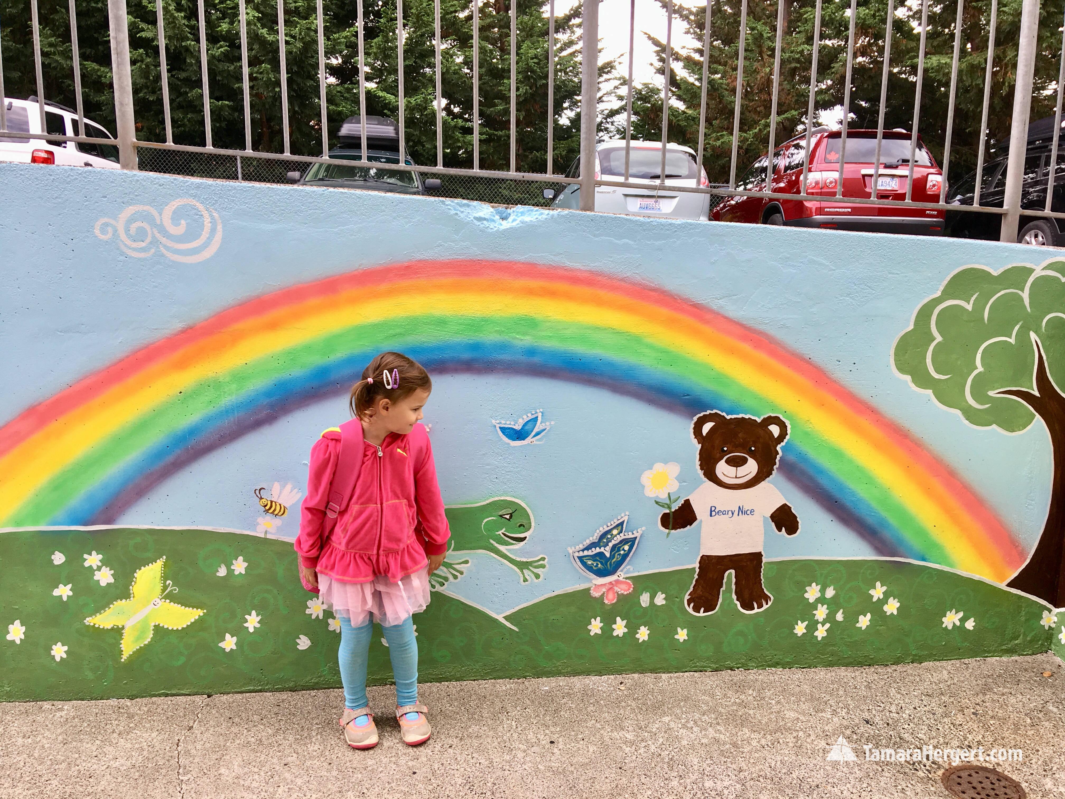 South Preschool mural by Tamara Hergert
