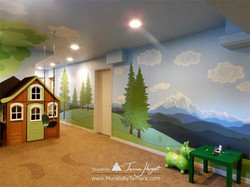 Cascade mountains - Tree in the corner - mural by Tamara Hergert - right side