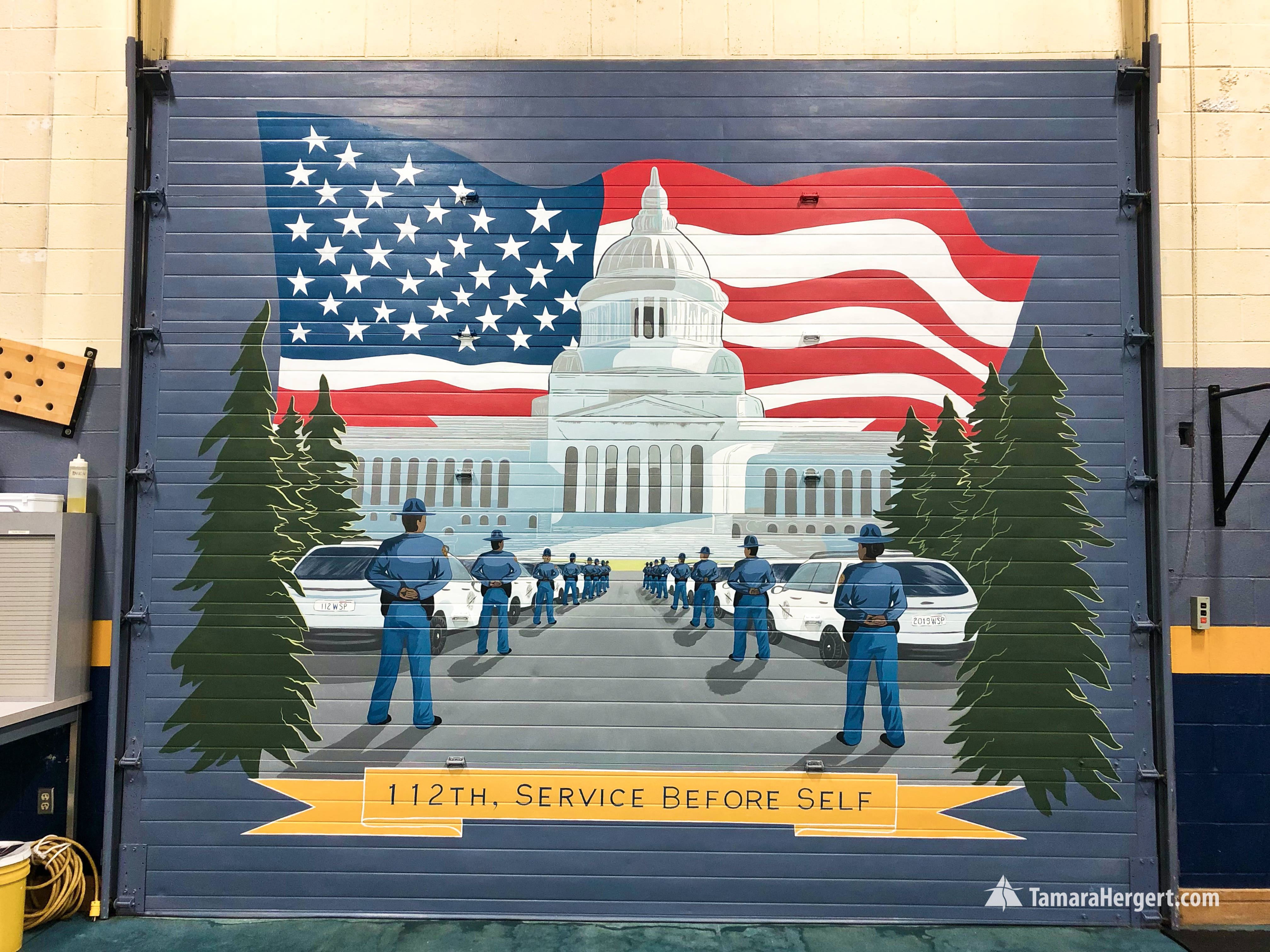 Washington State Patrol Academy mural by