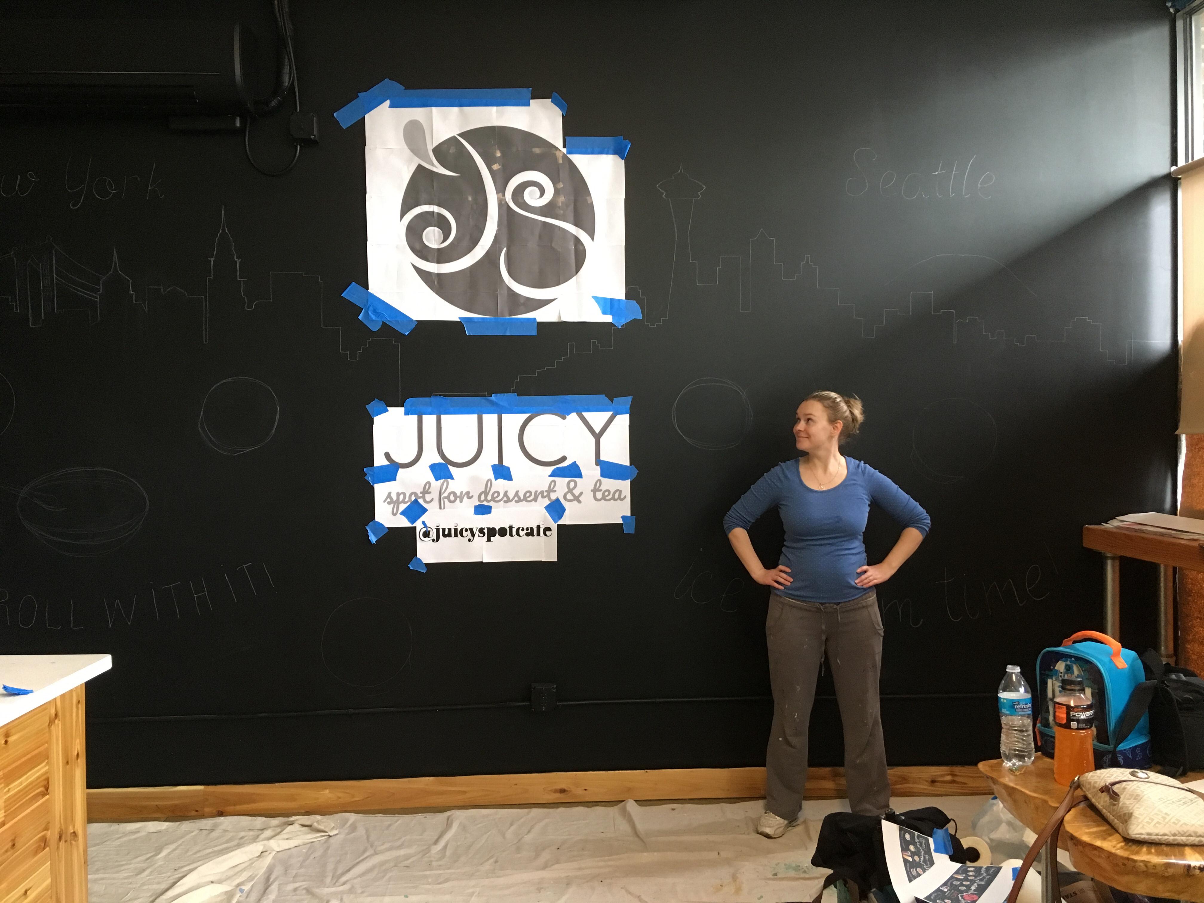 Juicy Spot Cafe mural by Tamara Hergert