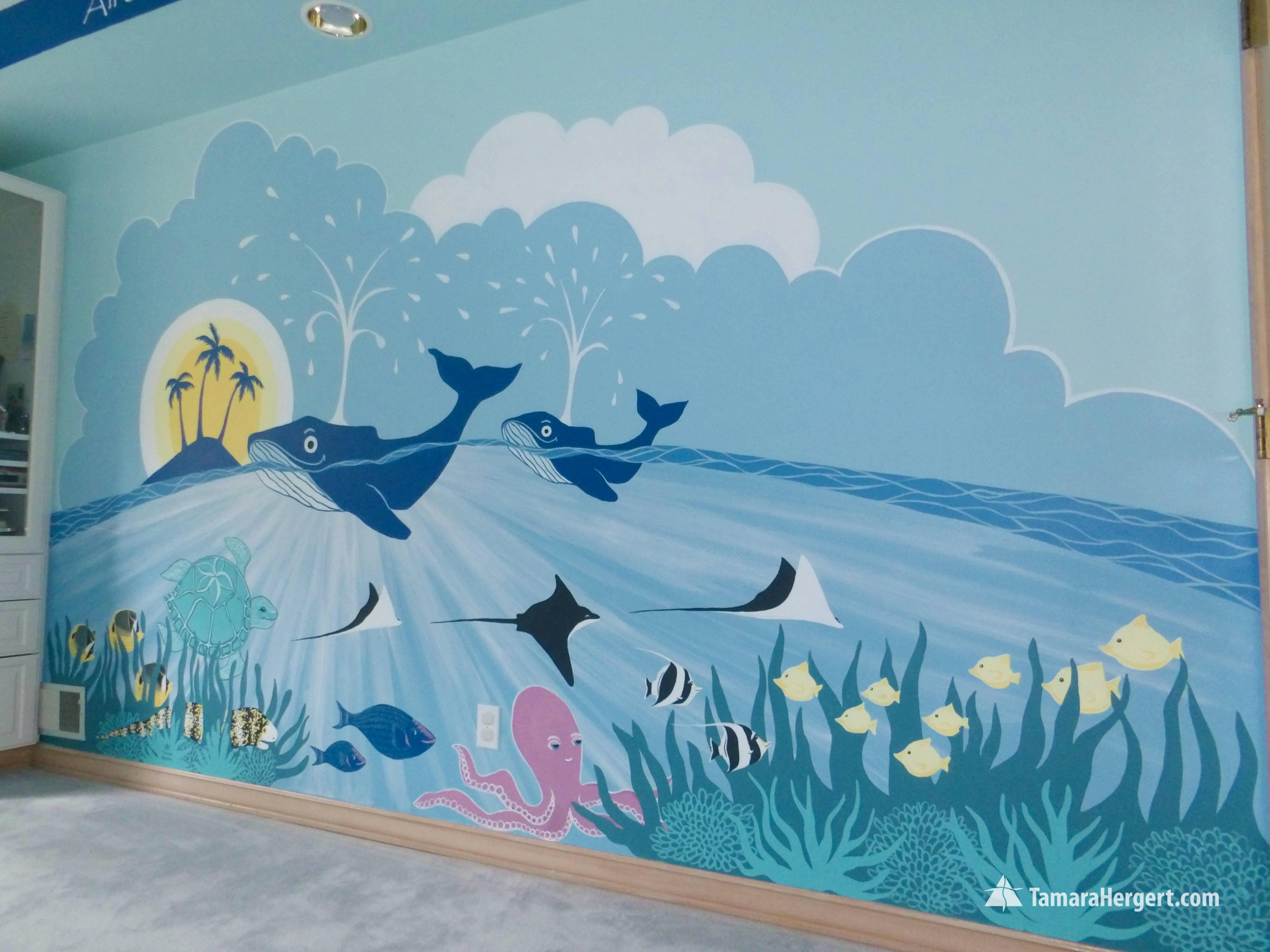 Sealife mural by Tamara Hergert 4