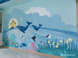 Sealife mural by Tamara Hergert 4