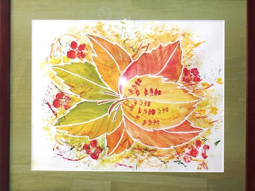"Original watercolor painting ""Autumn at its finest"" by Tamara Hergert"