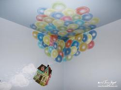 Up Pixar movie mural by Tamara Hergert - balloons3