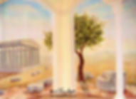 Ancient Greece, Pantheon, Greek ruins, ancient Rome mural by Tamara Hergert - mural artist seattle