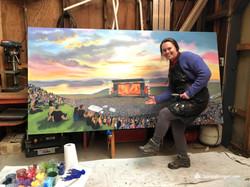 The Gorge - custom portable mural painti