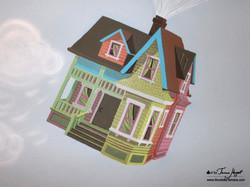 Up Pixar movie mural by Tamara Hergert - house