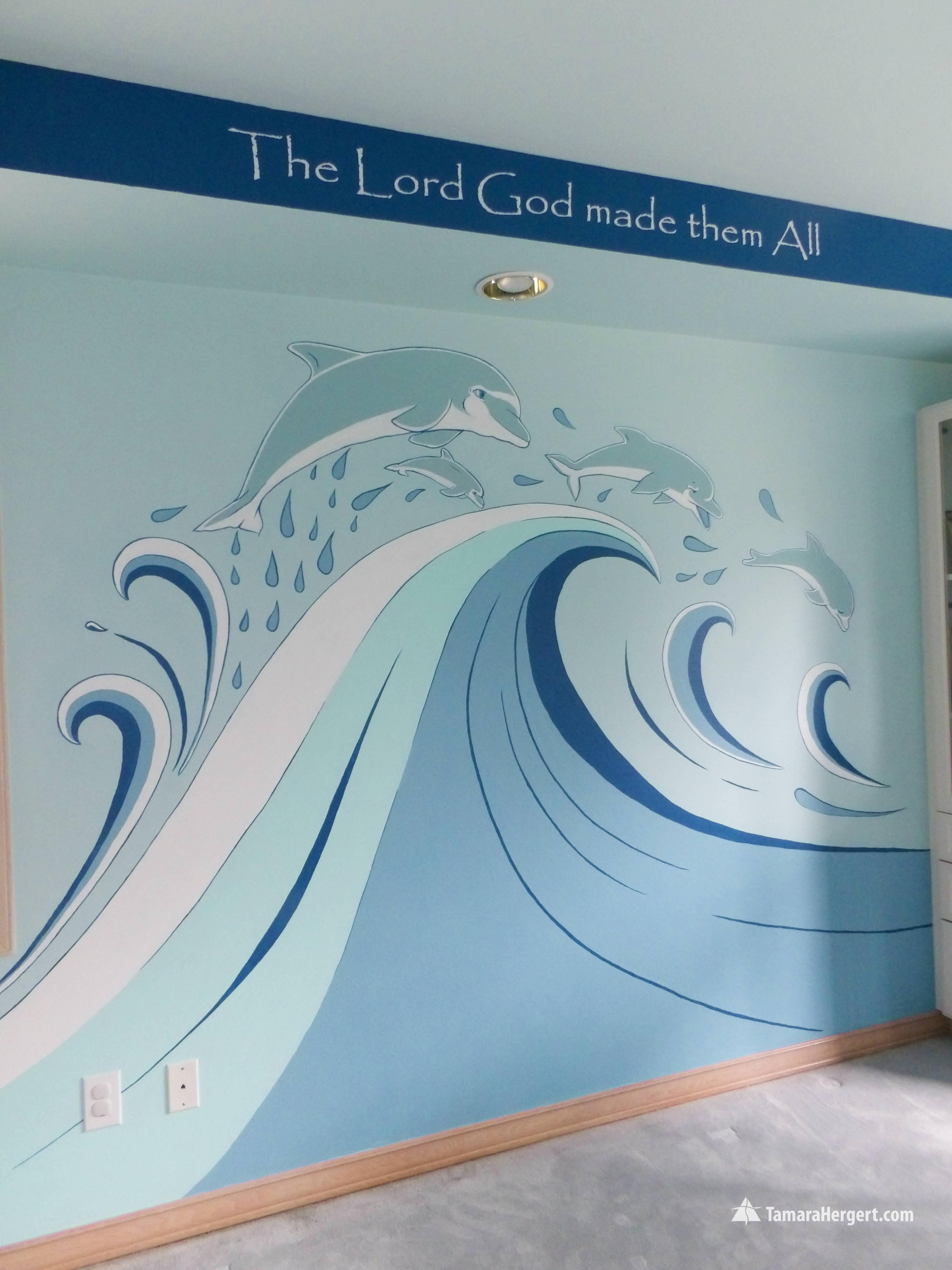 Sealife mural by Tamara Hergert 3