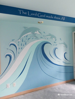 Sealife mural by Tamara Hergert 3
