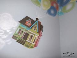Up Pixar movie mural by Tamara Hergert - house1