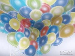 Up Pixar movie mural by Tamara Hergert - balloons