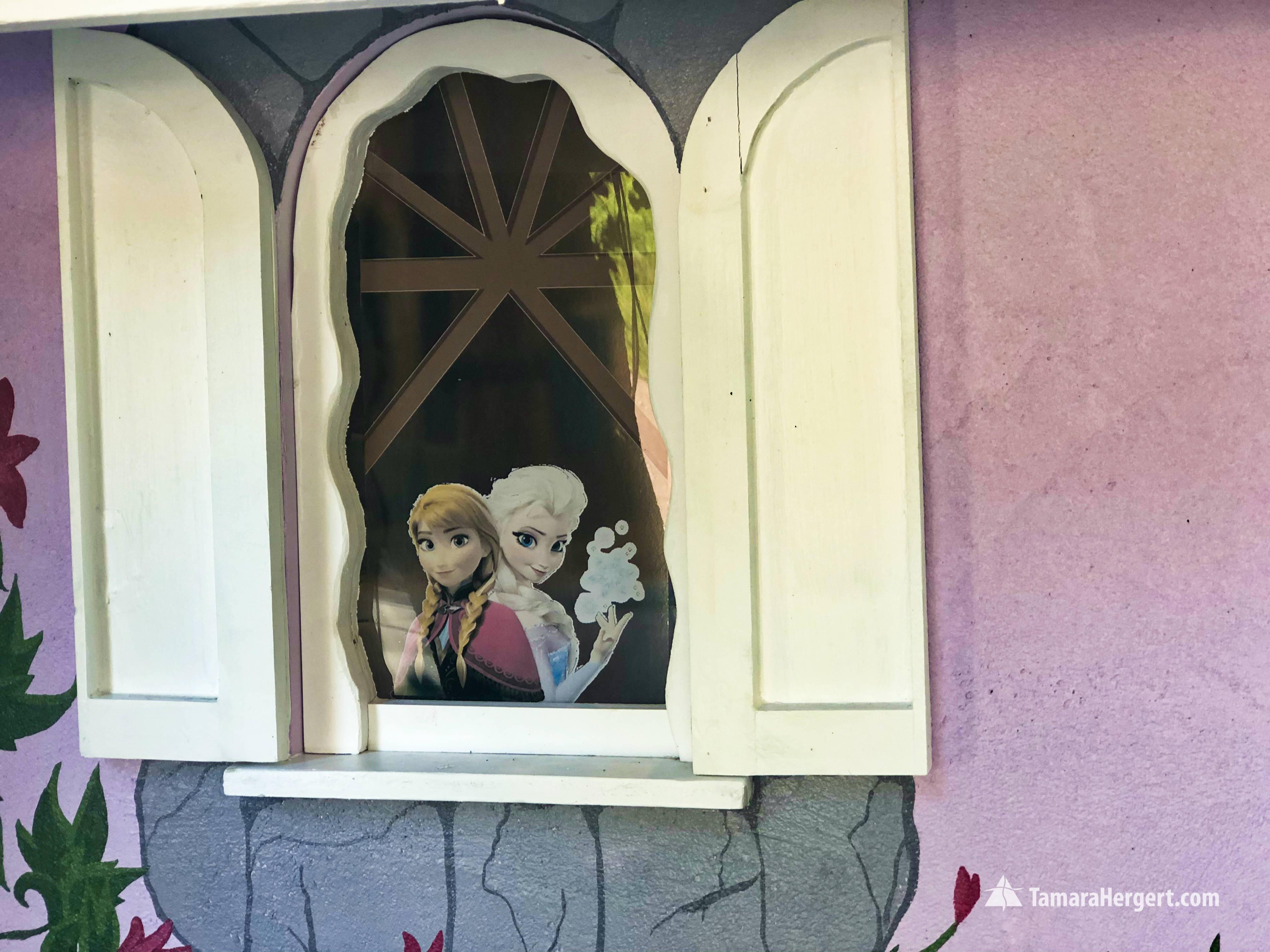 Fairy tale house mural by Tamara Hergert