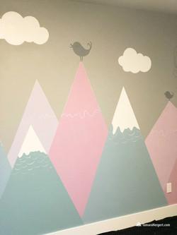 Modern Mountain tops mural by Tamara Her