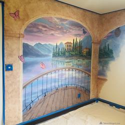 Italian villa mural by Tamara Hergert 7.
