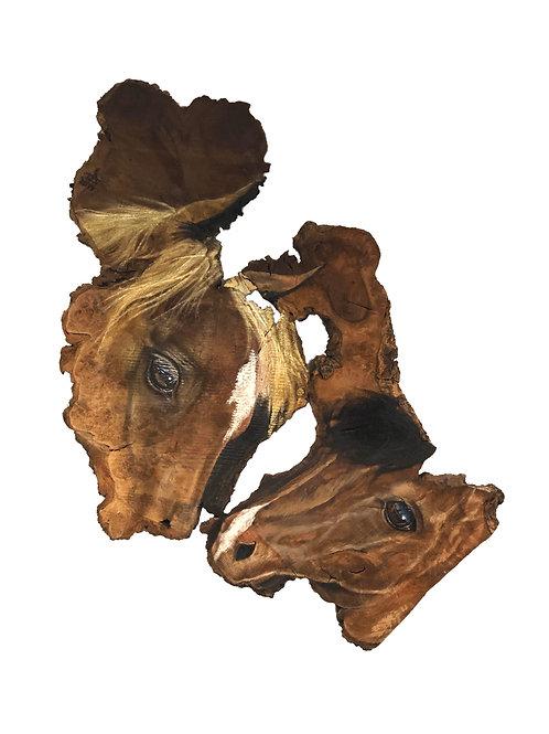 """Horse and foal"" original oil painting by Tamara Hergert"