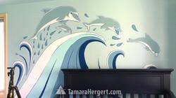 Whales mural by Tamara Hergert 5