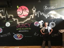 Juicy Spot Cafe mural by Tamara Hergert.