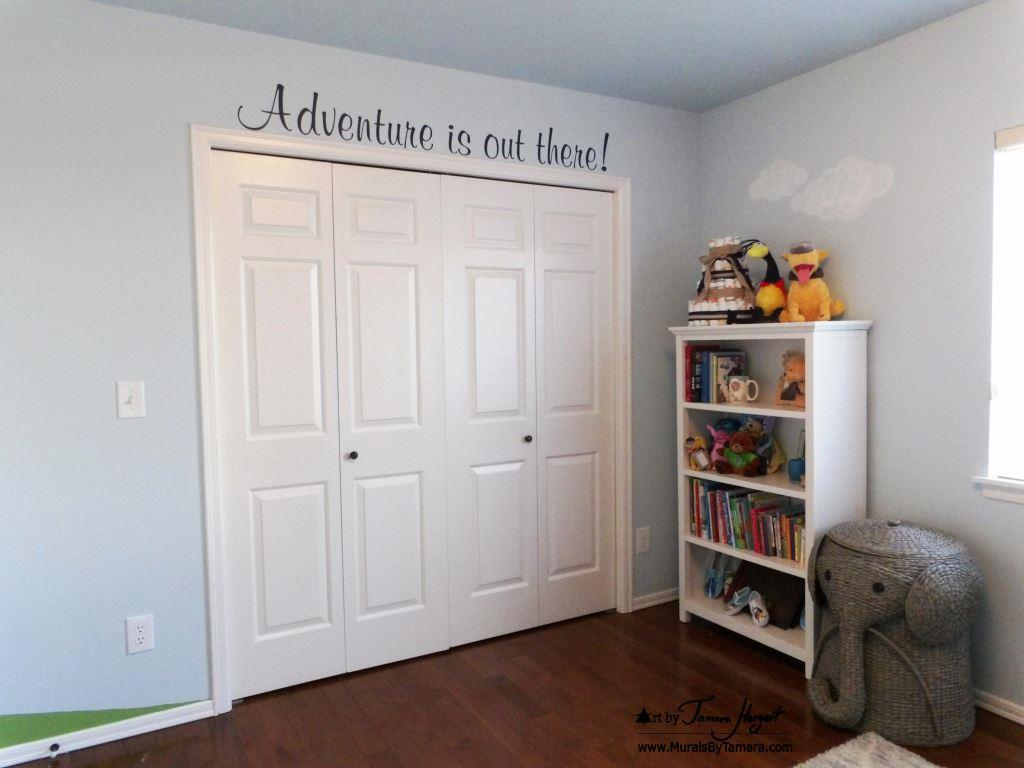 Up Pixar movie mural by Tamara Hergert - Adventure is out there!