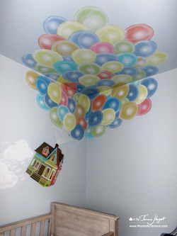 Up Pixar movie mural by Tamara Hergert - house3