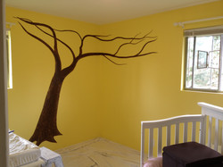 Willow tree mural by Tamara Hergert