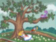 Alice in wonderland mural sketch by Tama