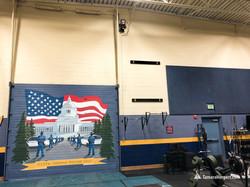 WA State Patrol Academy mural by Tamara