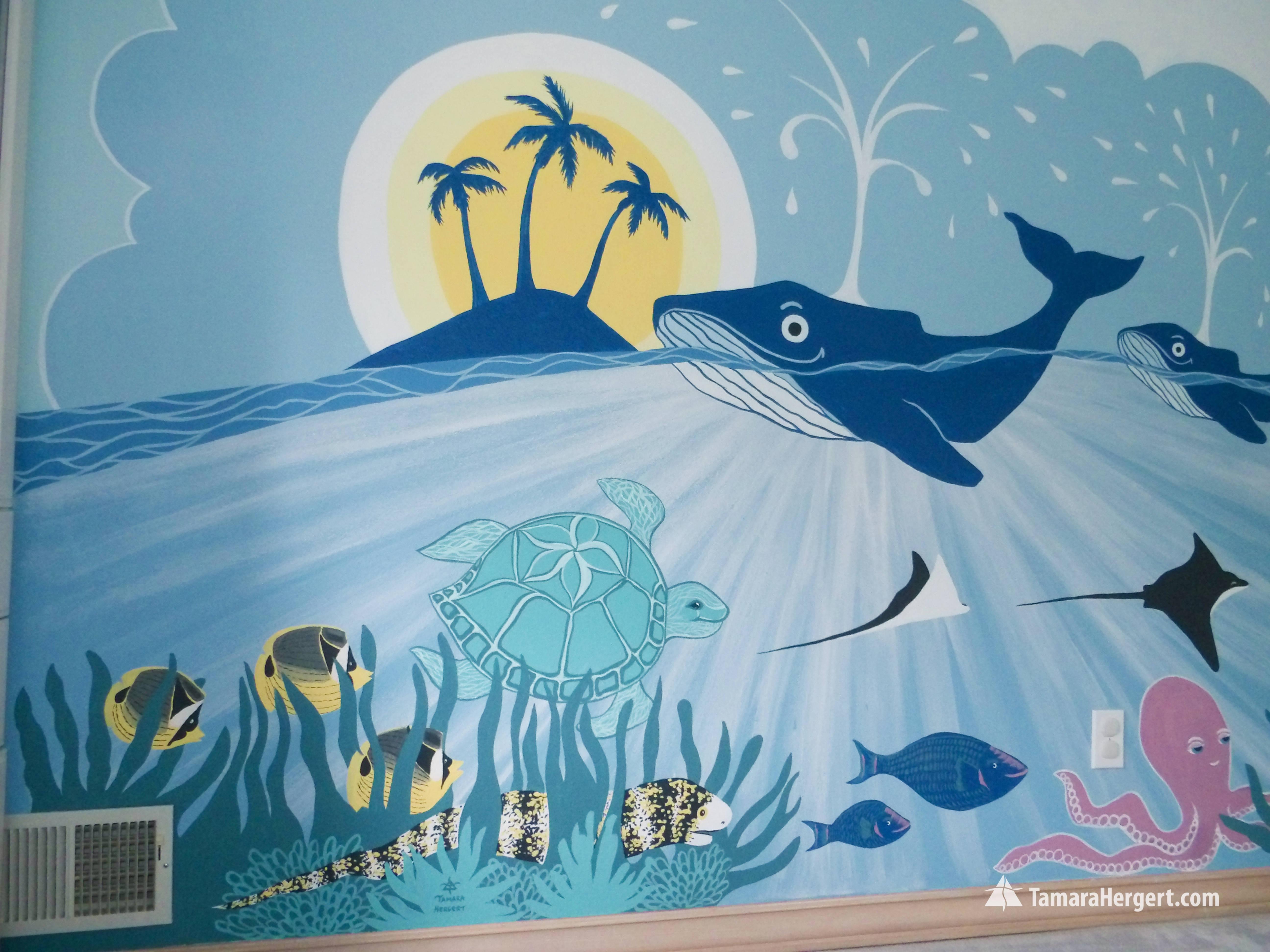 Sealife mural by Tamara Hergert 5