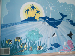Sealife mural by Tamara Hergert 5