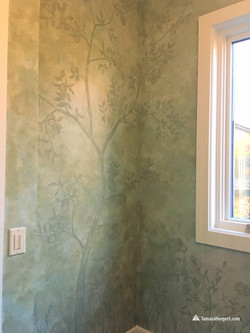 Subtle tones apple tree mural by Tamara