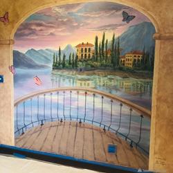Italian villa mural by Tamara Hergert 8.