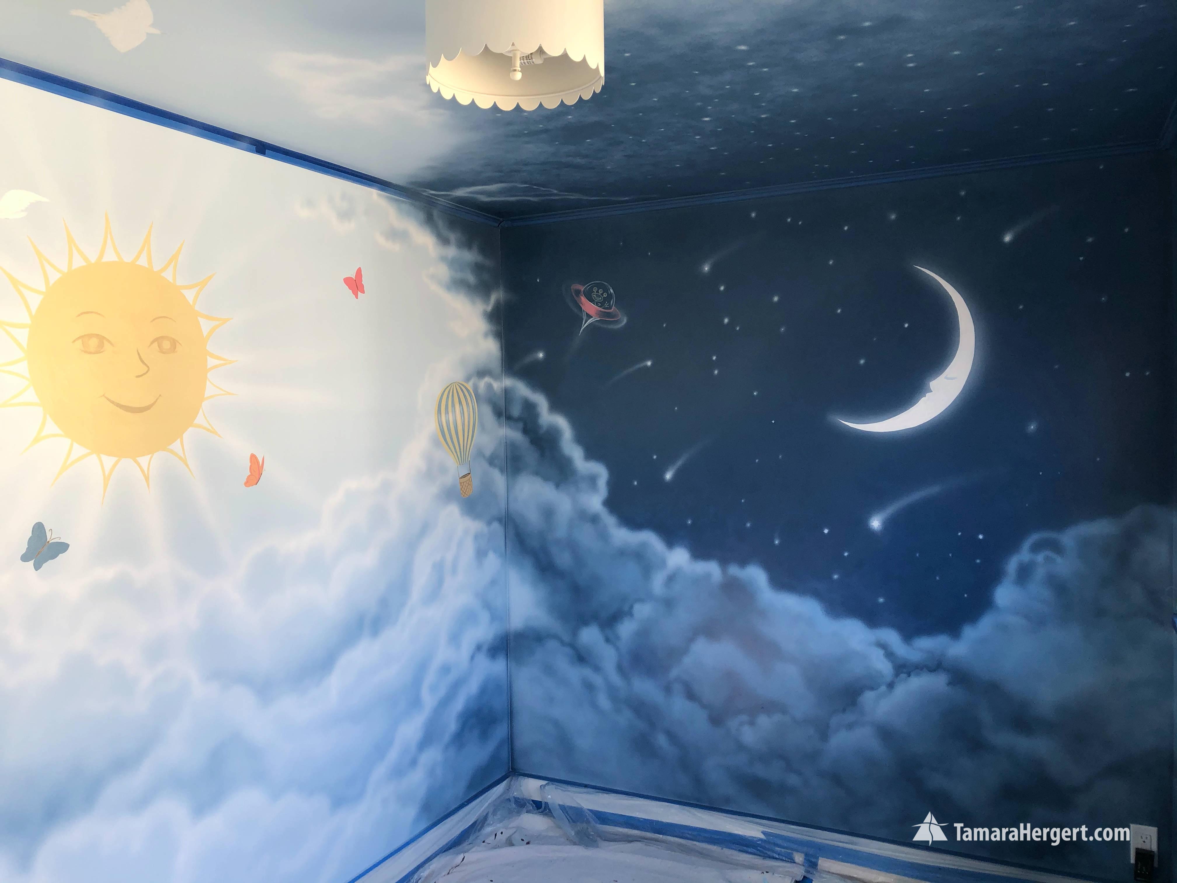 Night and Day mural by Tamara Hergert 8.