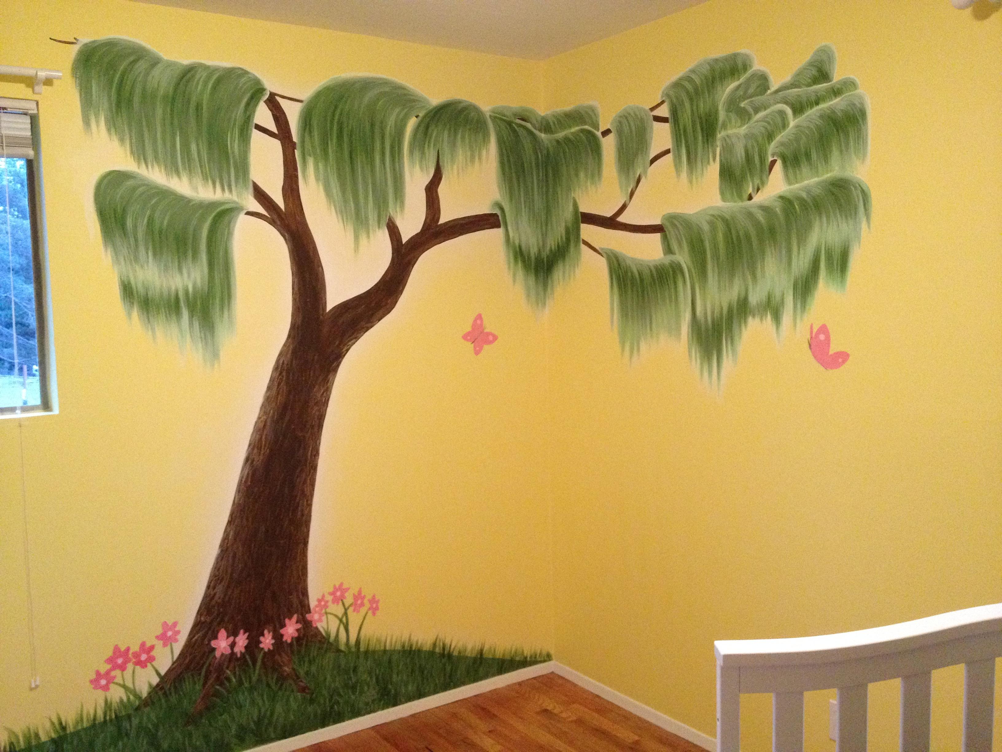 Willow tree mural by Tamara Hergert