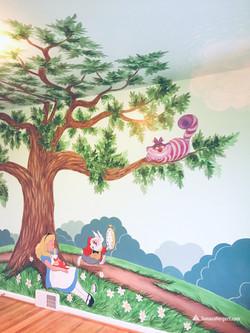 Alice in Wonderland mural by Tamara Herg
