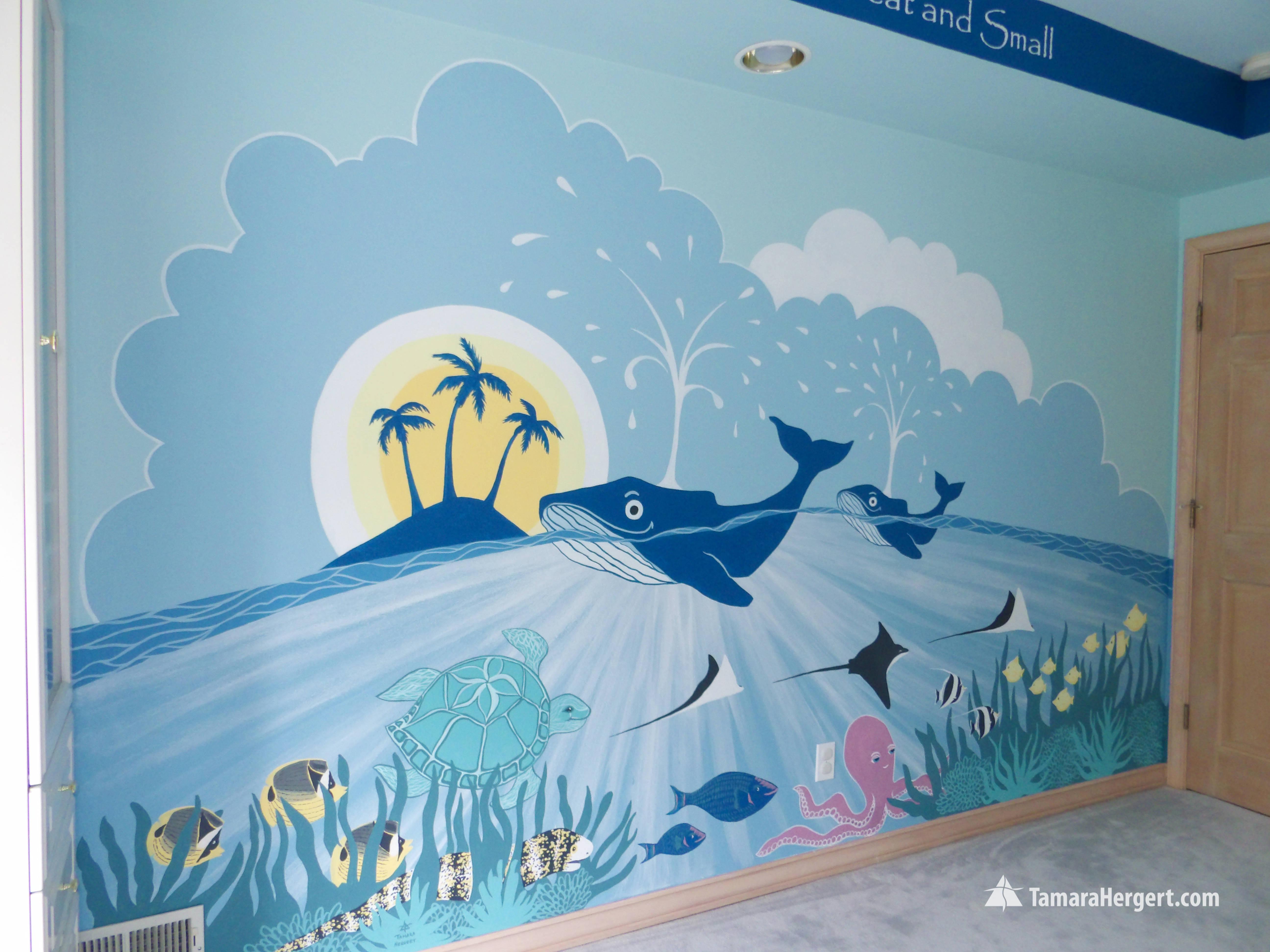 Sealife mural by Tamara Hergert 10