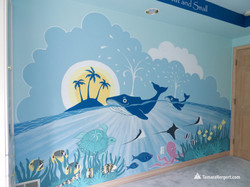 Sealife mural by Tamara Hergert 10